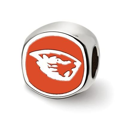 Picture of Oregon State University Beavers Sterling Silver Beaver Head Logo Bead