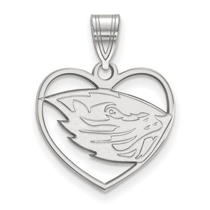 Picture of Oregon State University Beavers Sterling Silver Heart Pendant
