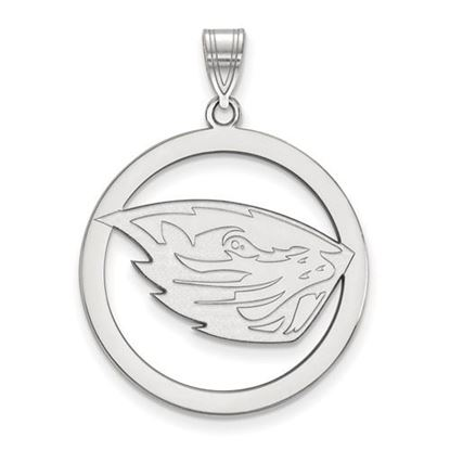 Picture of Oregon State University Beavers Sterling Silver Large Circle Pendant