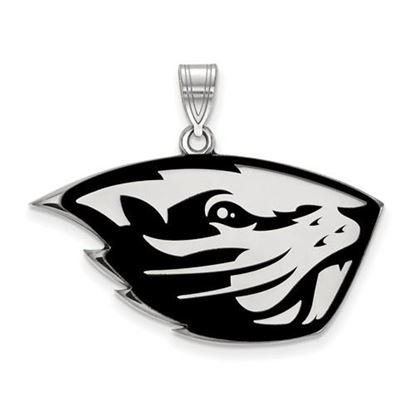 Picture of Oregon State University Beavers Sterling Silver Large Enameled Pendant