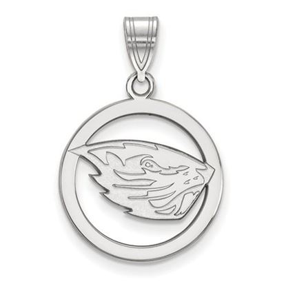 Picture of Oregon State University Beavers Sterling Silver Small Circle Pendant