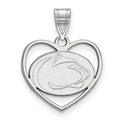 Picture of Penn State University Nittany Lions Sterling Silver Heart Pendant