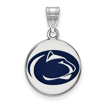 Picture of Penn State University Nittany Lions Sterling Silver Medium Enameled Disc Pendant