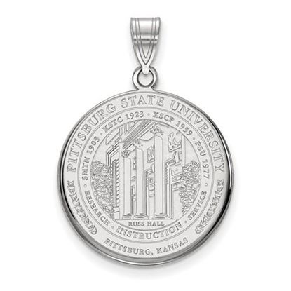 Picture of Pittsburgh State University Gorillas Sterling Silver Large Crest Pendant