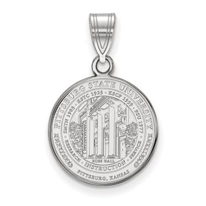 Picture of Pittsburgh State University Gorillas Sterling Silver Medium Crest Pendant