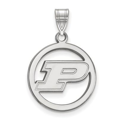 Picture of Purdue University Boilermakers Sterling Silver Small Circle Pendant