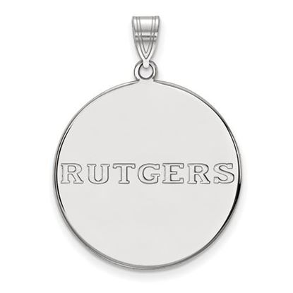 Picture of Rutgers University Scarlet Knights Sterling Silver Extra Large Disc Pendant