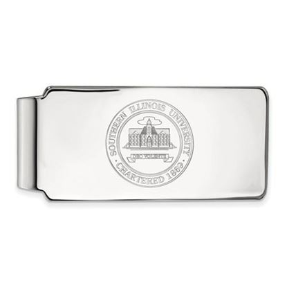 Picture of Southern Illinois University Salukis Sterling Silver Crest Money Clip