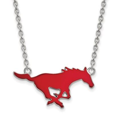 Picture of Southern Methodist University Mustangs Sterling Silver Large Enameled Necklace