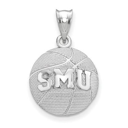 Picture of Southern Methodist University Mustangs Sterling Silver Basketball Pendant