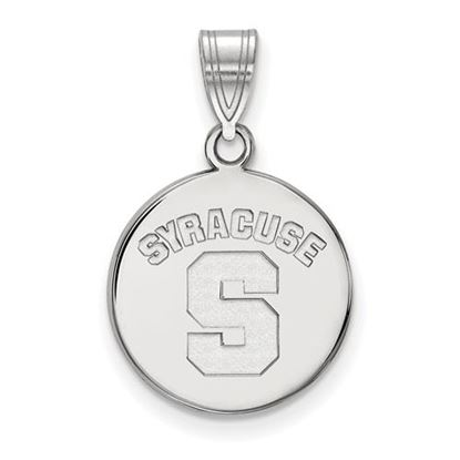 Picture of Syracuse University Orange Sterling Silver Medium Disc Pendant