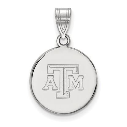 Picture of Texas A&M University Aggies Sterling Silver Medium Disc Pendant