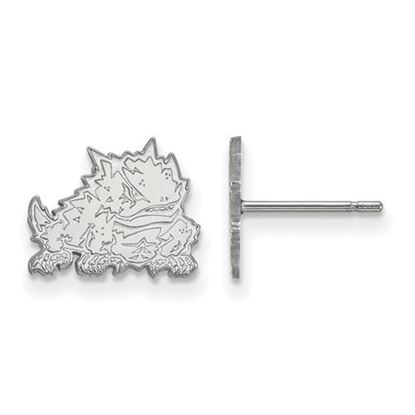 Picture of Texas Christian University Horned Frogs Sterling Silver Extra Small Post Earrings