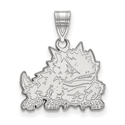 Picture of Texas Christian University Horned Frogs Sterling Silver Medium Pendant