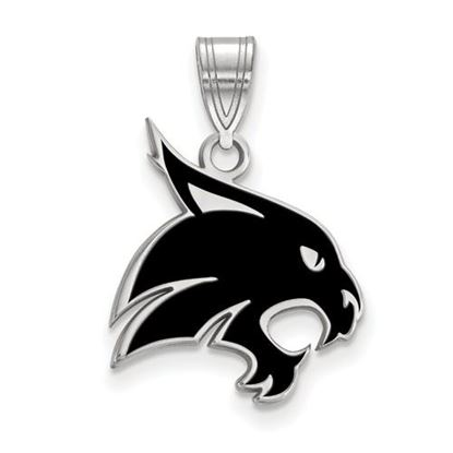 Picture of Texas State University Bobcats Sterling Silver Large Enameled Pendant