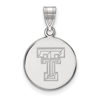 Picture of Texas Tech University Red Raiders Sterling Silver Medium Disc Pendant