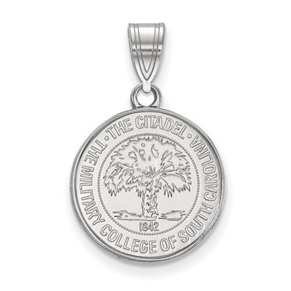 Picture of The Citadel Bulldogs Sterling Silver Medium Crest Pendant