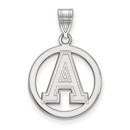 Picture of U.S. Military Academy Black Knights Sterling Silver Small Circle Pendant