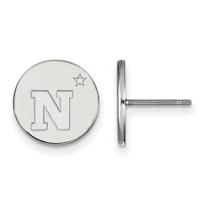 Picture of U.S. Naval Academy Midshipmen Sterling Silver Small Disc Earrings