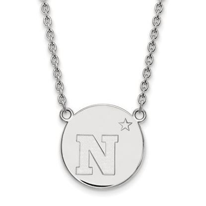 Picture of U.S. Naval Academy Midshipmen Sterling Silver Large Disc Necklace