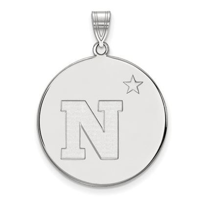 Picture of U.S. Naval Academy Midshipmen Sterling Silver Extra Large Disc Pendant