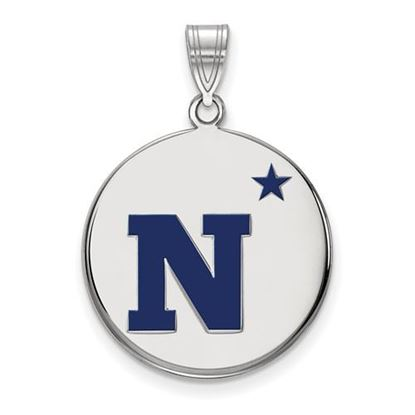 Picture of U.S. Naval Academy Midshipmen Sterling Silver Large Enameled Disc Pendant