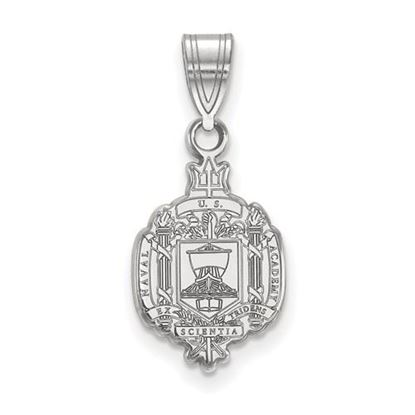Picture of U.S. Naval Academy Midshipmen Sterling Silver Medium Crest Pendant