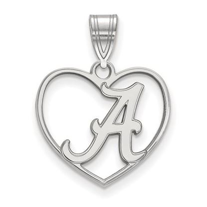 Picture of University of Alabama Crimson Tide Sterling Silver Heart Pendant