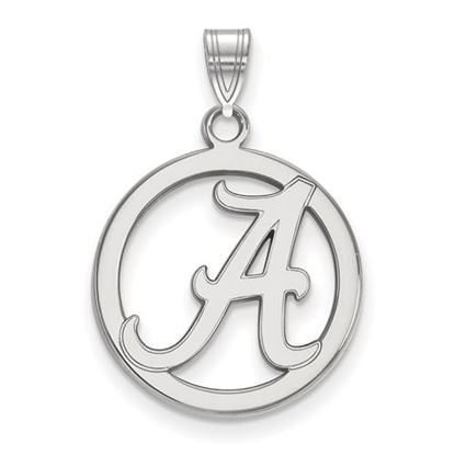 Picture of University of Alabama Crimson Tide Sterling Silver Small Circle Pendant