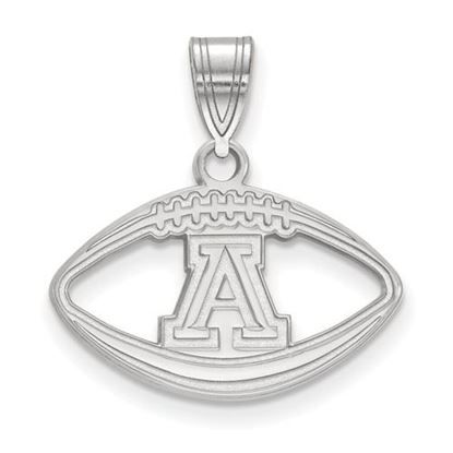 Picture of University of Arizona Wildcats Sterling Silver Football Pendant