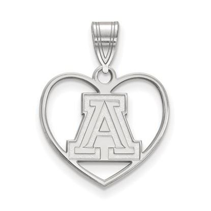 Picture of University of Arizona Wildcats Sterling Silver Heart Pendant