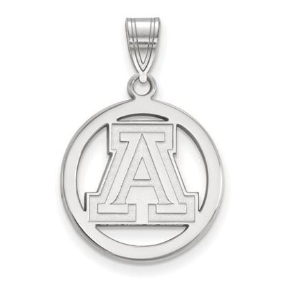 Picture of University of Arizona Wildcats Sterling Silver Small Circle Pendant