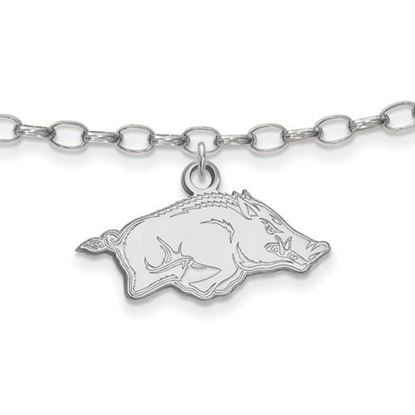Picture of University of Arkansas Razorbacks Sterling Silver Anklet