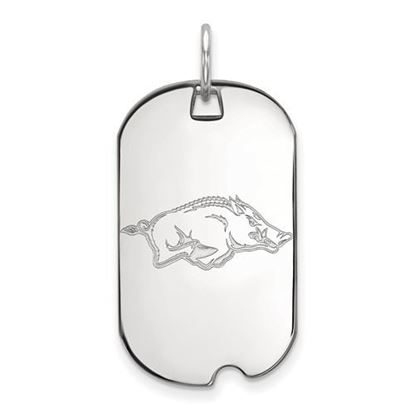 Picture of University of Arkansas Razorbacks Sterling Silver Small Dog Tag