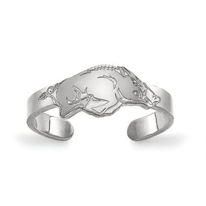 Picture of University of Arkansas Razorbacks Razorbacks Sterling Silver Toe Ring