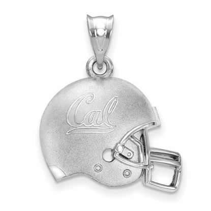 Picture of University of California Berkeley Golden Bears Sterling Silver 3D Football Logo Helmet Pendant