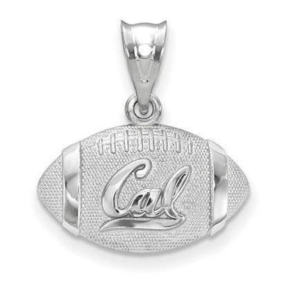 Picture of University of California Berkeley Golden Bears Sterling Silver Football Pendant