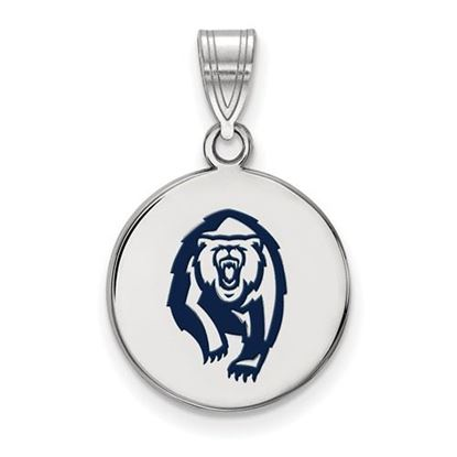 Picture of University of California Berkeley Golden Bears Sterling Silver Medium Enameled Disc Pendant