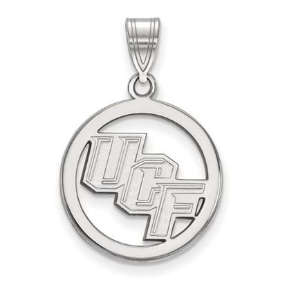 Picture of University of Central Florida Knights Sterling Silver Small Circle Pendant