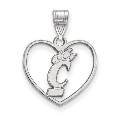 Picture of University of Cincinnati Bearcats Sterling Silver Heart Pendant
