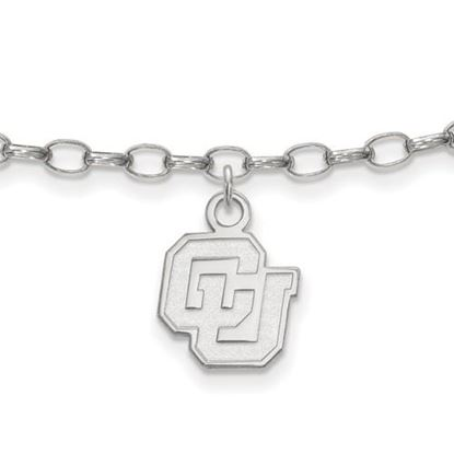 Picture of University of Colorado Buffaloes Sterling Silver Anklet
