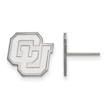 Picture of University of Colorado Buffaloes Sterling Silver Small Post Earrings