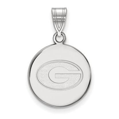 Picture of University of Georgia Bulldogs Sterling Silver Medium Disc Pendant