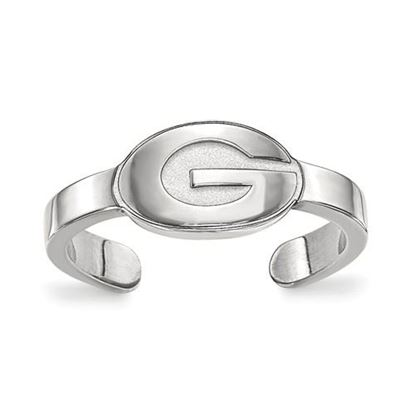 Picture of University of Georgia Bulldogs Sterling Silver Toe Ring