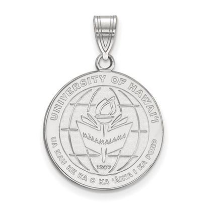 Picture of University of Hawaii Rainbow Warriors Sterling Silver Large Crest Pendant