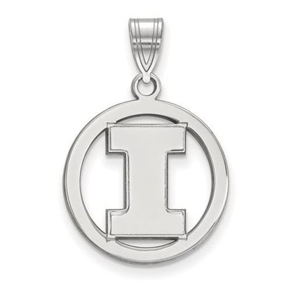 Picture of University of Illinois Fighting Illini Sterling Silver Small Circle Pendant