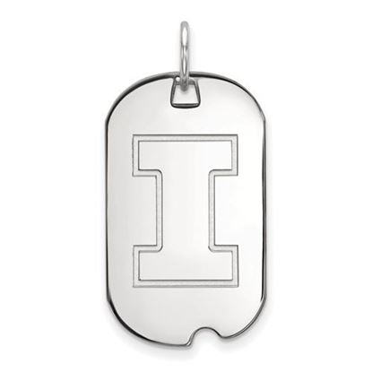 Picture of University of Illinois Fighting Illini Sterling Silver Small Dog Tag