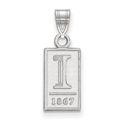 Picture of University of Illinois Fighting Illini Sterling Silver Small Pendant
