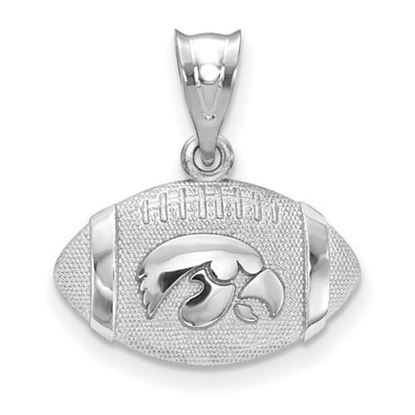 Picture of University of Iowa Hawkeyes Sterling Silver Football Pendant