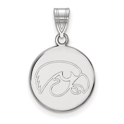 Picture of University of Iowa Hawkeyes Sterling Silver Medium Disc Pendant